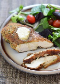 Herb Crusted Chicken Breast With Honey Butter