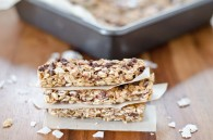 Chewy Coconut Chocolate Chip Granola Bars