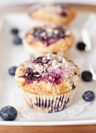 The Best Lemon Topped Blueberry Muffins