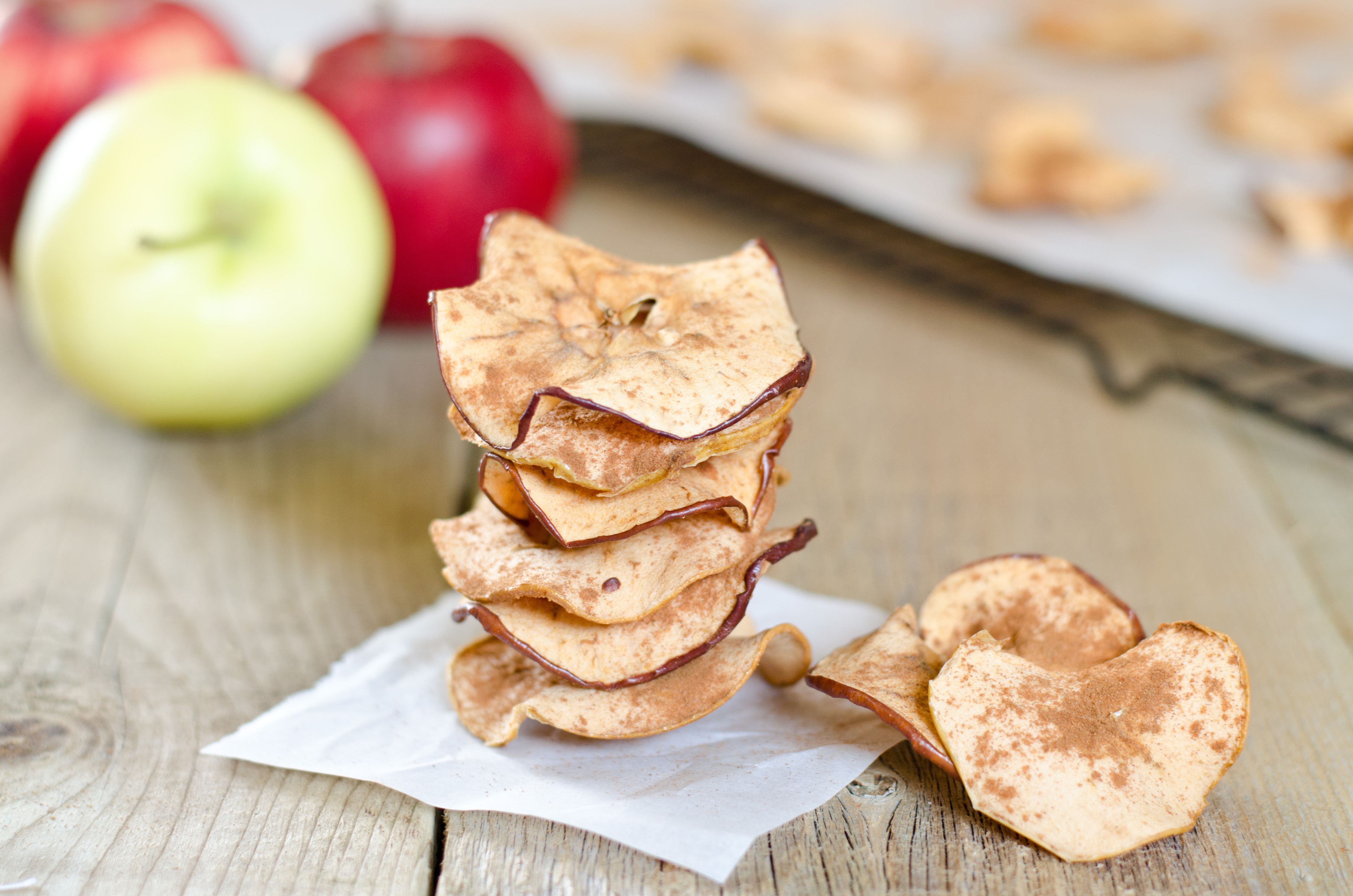 Crispy Baked Cinnamon Apple Chips   Amy Kay's Kitchen