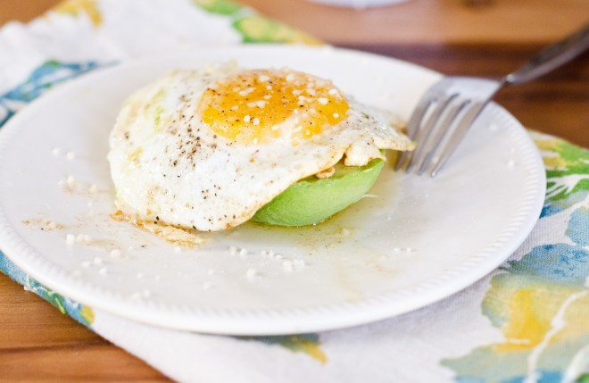 Avocado with Eggs and Browned Butter